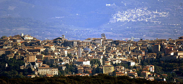 Perugia e Assisi. Fonte: Comune di Perugia