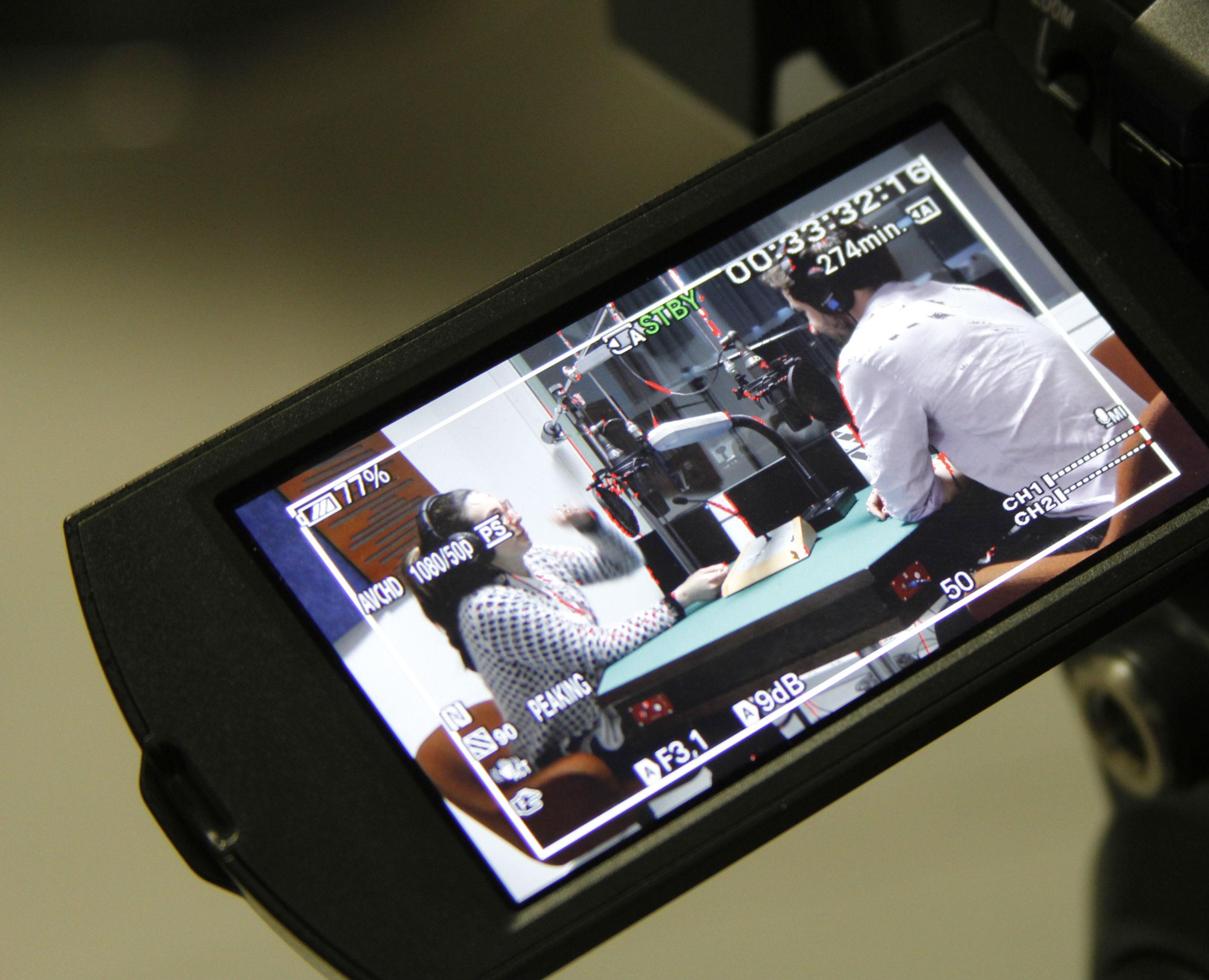Una delle 25 telecamere in dotazione agli allievi